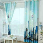 DHLfree-3d-printed-home-window-blackout-curtain-thread-of-polyester-adhesive-window-blinds-shades-set-for